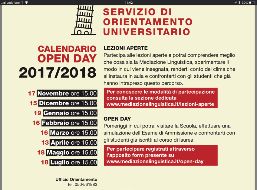 Calendario Unipi Economia.Orientamento Universitario Screen 4 On Flowvella
