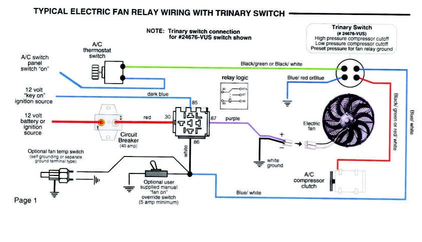 ac binary switch wiring diagram online schematic diagram u2022 rh holyoak co Ford A C Compressor Wiring Schematic Trinary Switch Diagram