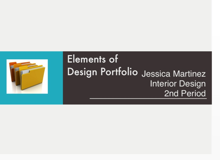 Three Elements Of Design : Elements of design portfolio on flowvella presentation