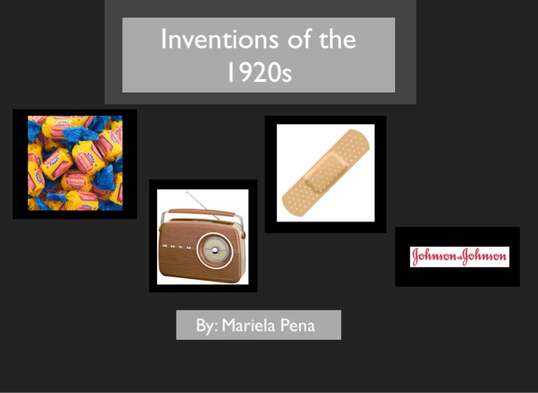 What are some inventions of the1920s?