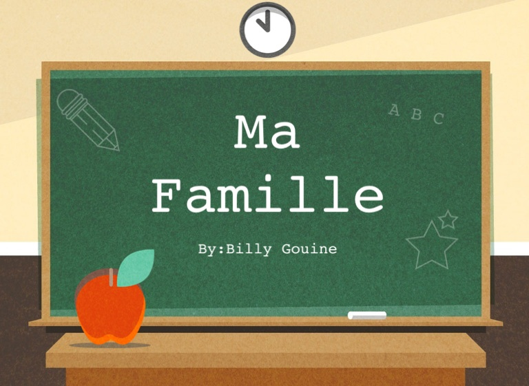 ma famille french essay Support french literacy skills for dual language or bilingual learners with a large collection of engaging, translated books at 28 reading levels graduated french translated leveled books are listed at the same levels as their english counterparts to support students' biliteracy more about ma famille level aa fiction.