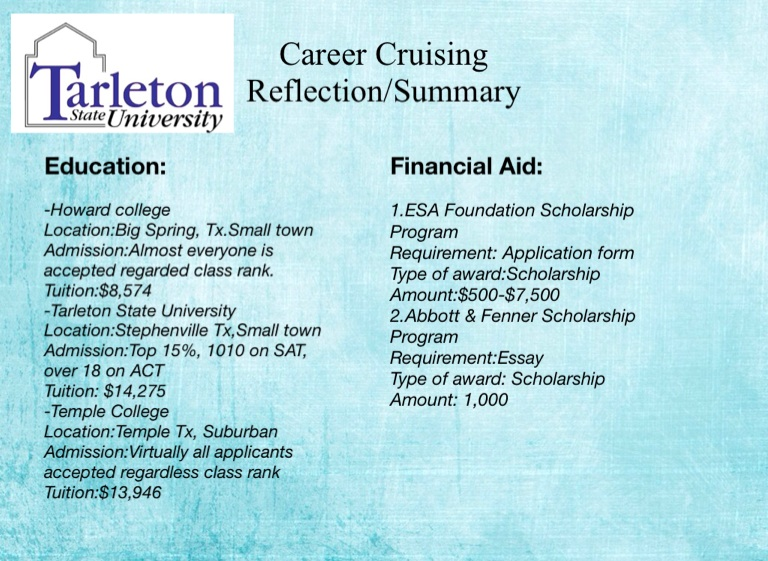 College And Career Cruising