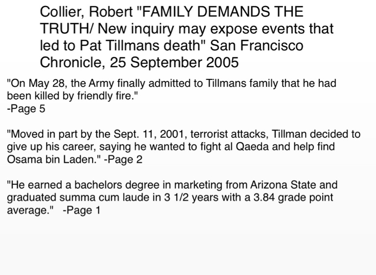 Exposing The Truth Quotes: Pat Tillman Quotes And Sources On FlowVella