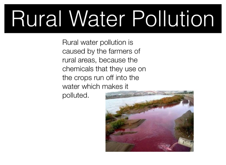 water pollution through urban and rural In addition, pollution management can enhance competitiveness, for example, through job creation, better energy efficiency, improved transport, and sustainable urban and rural development pollution management can also make substantial contributions to climate change mitigation through actions, such as reduction of black carbon emissions, which.