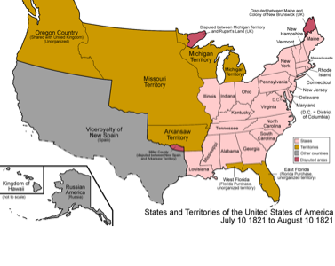 USH Project Period Field Screen On FlowVella Presentation - Map of the us before westward expansion
