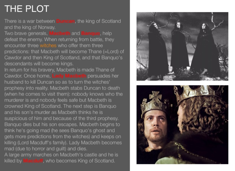 why macbeth killed duncan Duncan and macbeth - famous names macbeth formed an alliance with his cousin the earl of orkney, and they defeated and killed duncan near elgin in 1040 macbeth.