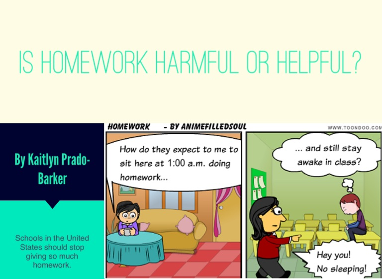 is homework harmful or helpful