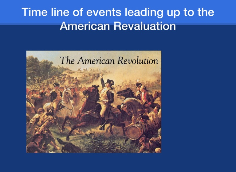 events leading up to the american