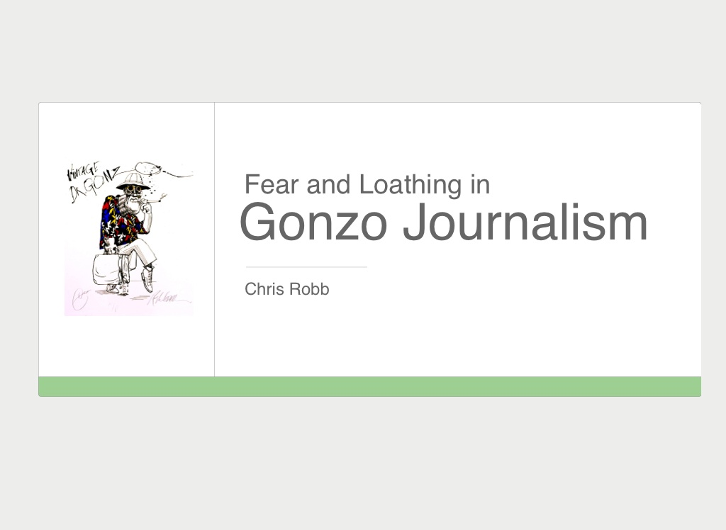 the definition of gonzo journalism Gonzo definition is - of, relating to, or being a style of journalism marked by a lack of objectivity due to the writer's immersion in the subject and often participation in the activity being documented.
