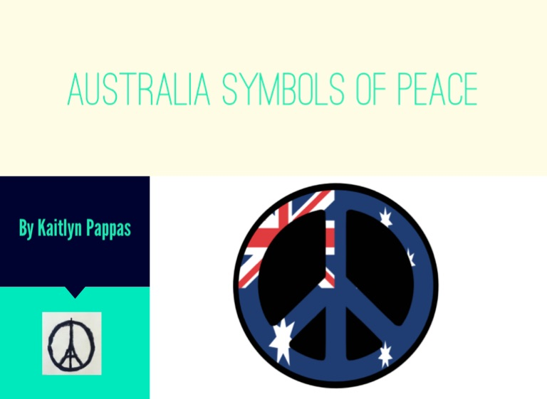Australia Symbols Of Peace On Flowvella Presentation Software For