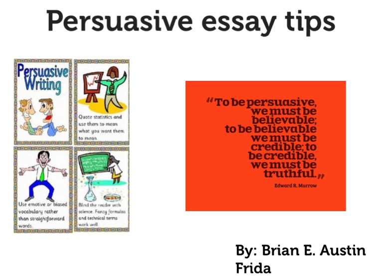 Introduction for an persuasive essay